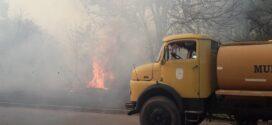 Incendio de pastizales de impresionantes dimensiones al ingreso de  Makallé