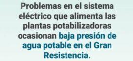 Resistencia | 600 mil usuarios afectados por el corte en el servicio de agua potable