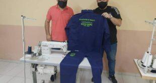 Makallé: el intendente Angione y el secretario de municipios de la provincia recorrieron el taller textil municipal